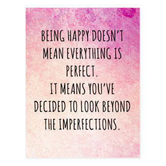 Being Happy Quote Postcard