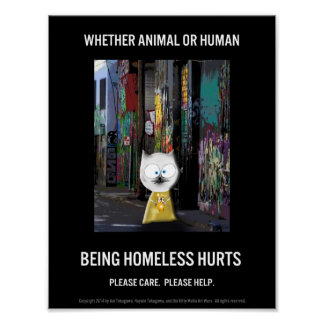 Being Homeless Hurts Poster