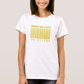 'Being in Love' Priceless (Gold) Barcode Shirt