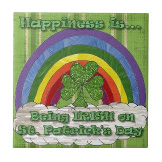 Being Irish On St Patrick's Day Ceramic Tile
