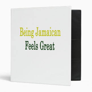 Being Jamaican Feels Great Vinyl Binder