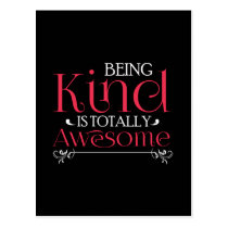 Being Kind Is Totally Awesome Anti-Bully Postcard