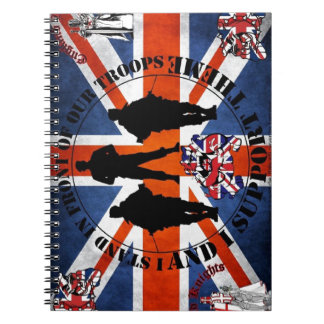 Being located in front OF our Troops Spiral Notebooks