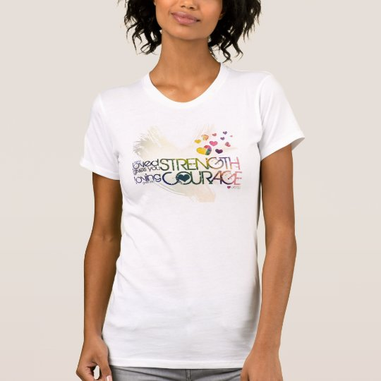 being loved gives you strength, loving... T-Shirt