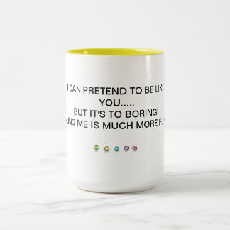 BEING ME Two-Tone COFFEE MUG