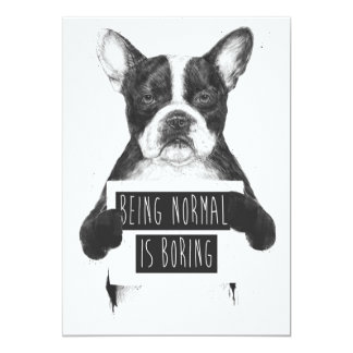 Being normal is boring card