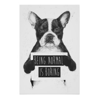 Being normal is boring poster at Zazzle