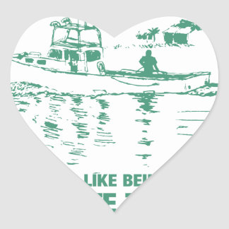 Being On The Water Is The Ultimate Tranquility Heart Sticker