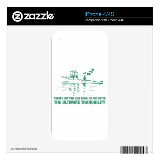 Being On The Water Is The Ultimate Tranquility iPhone 4S Decal