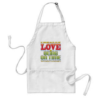Being On Time Love Face Apron