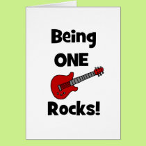 Being One (1) Rocks! Card