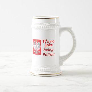 Being Polish Beer Stein