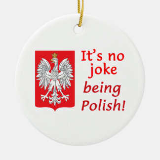 Being Polish Ceramic Ornament