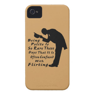 Being Polite Is So Rare It Is Confused w Flirting iPhone 4 Case-Mate Case