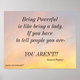 BEING POWERFUL MARGARET THATCHER POSTER