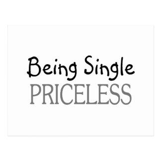 Being Single Priceless Postcard