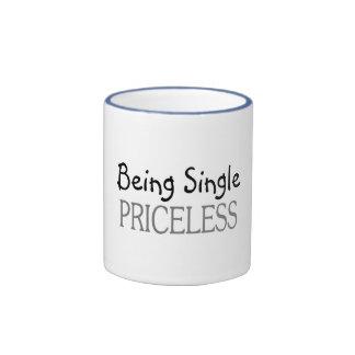 Being Single Priceless Ringer Mug