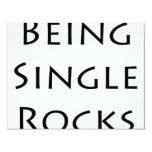 Being Single Rocks Personalized Announcements