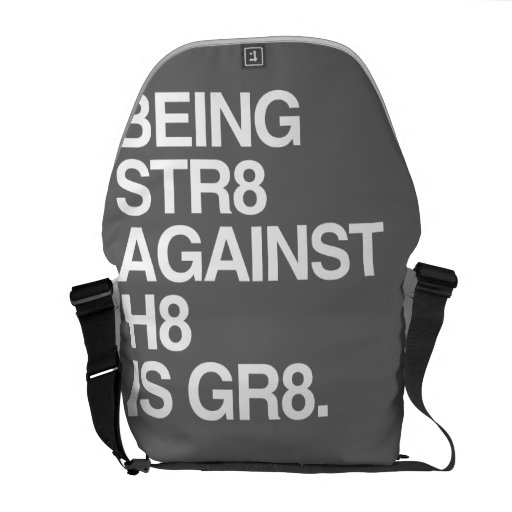 BEING ST8 AGAINST H8 -.png Messenger Bags