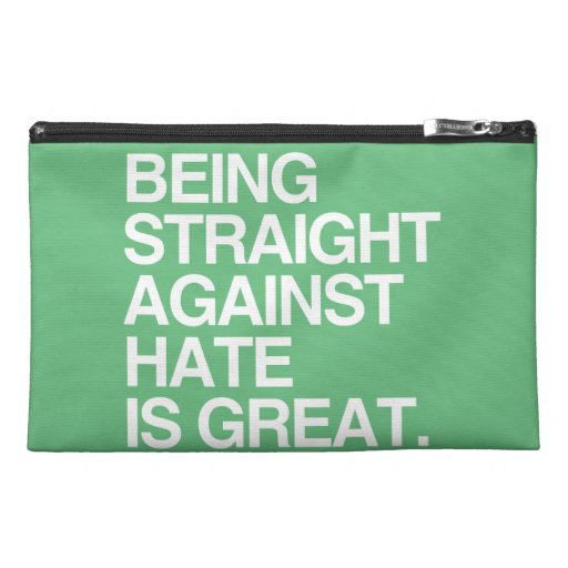 BEING STRAIGHT AGAINST HATE -.png Travel Accessories Bag