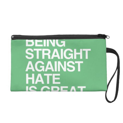 BEING STRAIGHT AGAINST HATE -.png Wristlet Clutch