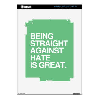 BEING STRAIGHT AGAINST HATE -.png iPad 3 Skin