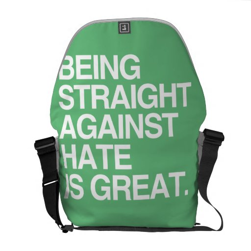 BEING STRAIGHT AGAINST HATE -.png Courier Bags