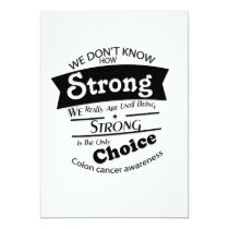 Being Strong Colon Cancer Awareness Card