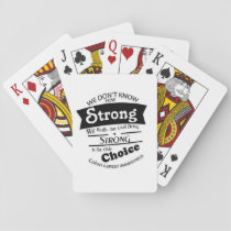 Being Strong Colon Cancer Awareness Playing Cards