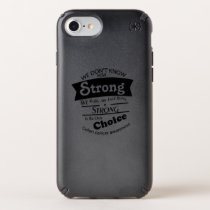 Being Strong Colon Cancer Awareness Speck iPhone Case