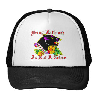 Being Tattooed Is Not A Crime Mesh Hat