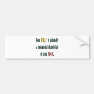 Being UNIQUE Bumper Sticker