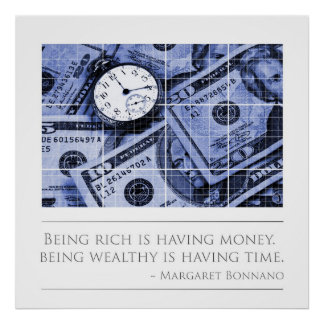 Being Wealthy is having time Posters