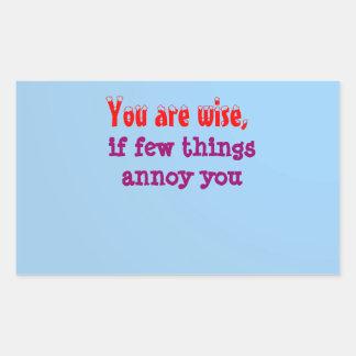 Being Wise -  Words of wisdom Rectangular Sticker
