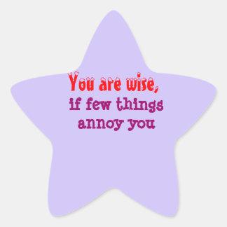 Being Wise -  Words of wisdom Star Sticker