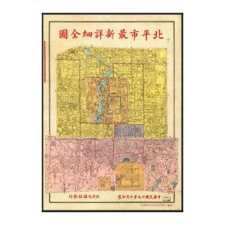 Beiping Shi zui xin xiang xi quan tu Beijing 1930 Canvas Print