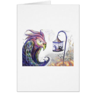 beird-cage greeting card