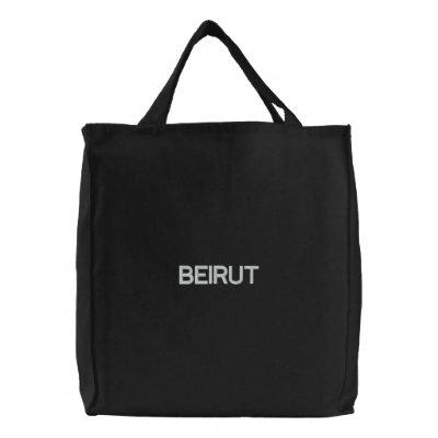 Beirut Bolsa De Lienzo