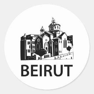 Beirut Pegatina Redonda