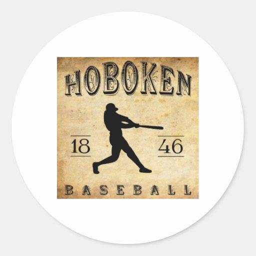 Béisbol 1846 de Hoboken New Jersey Etiquetas