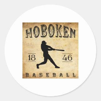 Béisbol 1846 de Hoboken New Jersey Pegatina Redonda