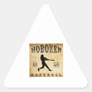 Béisbol 1846 de Hoboken New Jersey Pegatina Triangular