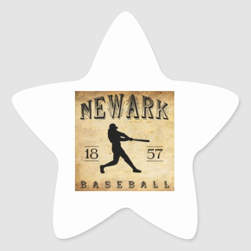 Béisbol 1857 de Newark New Jersey Calcomanía Forma De Estrella