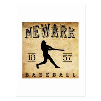 Béisbol 1857 de Newark New Jersey Postales
