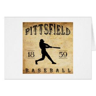 Béisbol 1859 de Pittsfield Massachusetts Tarjeta De Felicitación