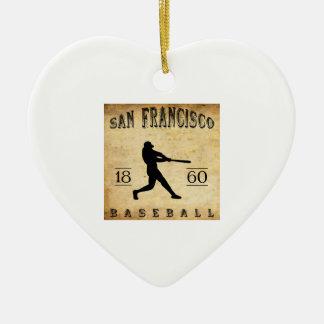Béisbol 1860 de San Francisco California Ornamentos De Navidad