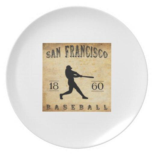 Béisbol 1860 de San Francisco California Platos