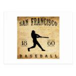 Béisbol 1860 de San Francisco California Tarjeta Postal