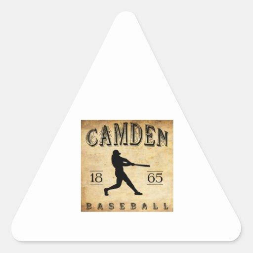 Béisbol 1865 de Camden New Jersey Colcomanias De Trianguladas