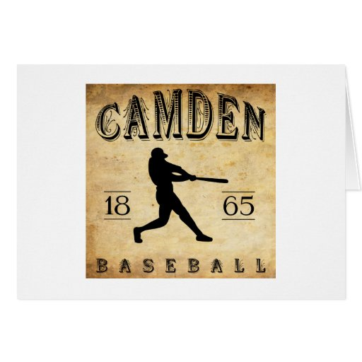 Béisbol 1865 de Camden New Jersey Tarjeta De Felicitación